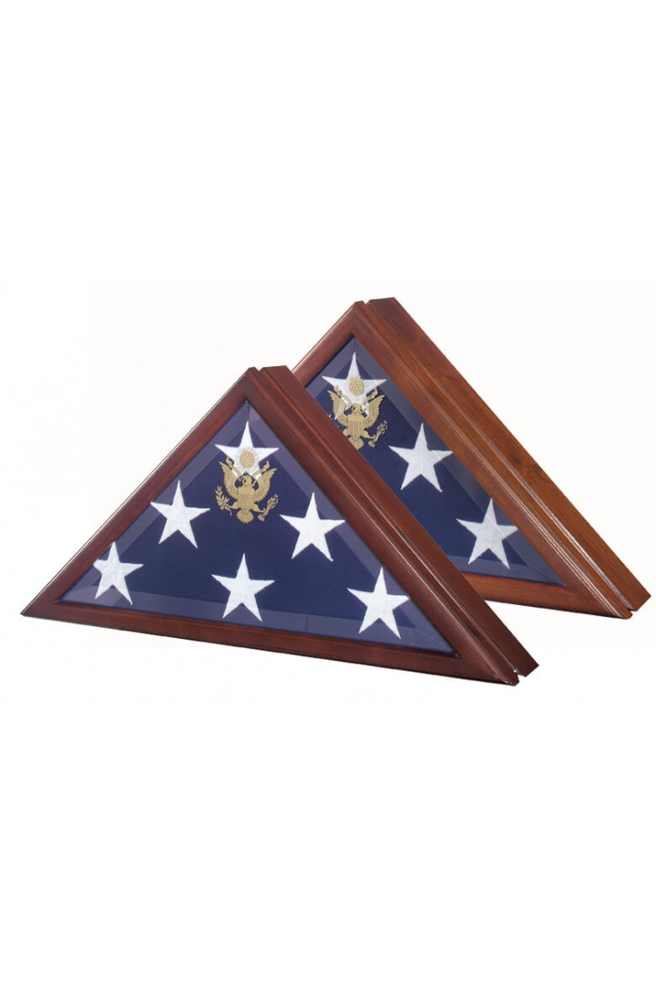 Presidential Flag Case with Hinged Lid